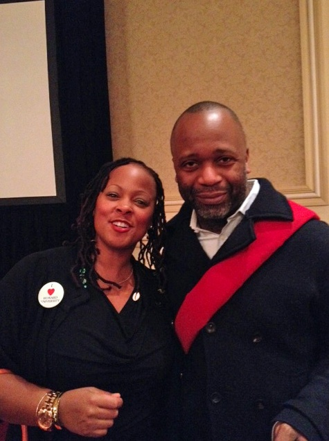 Michelle Perkins with Theaster Gates (by Michelle Perkins)