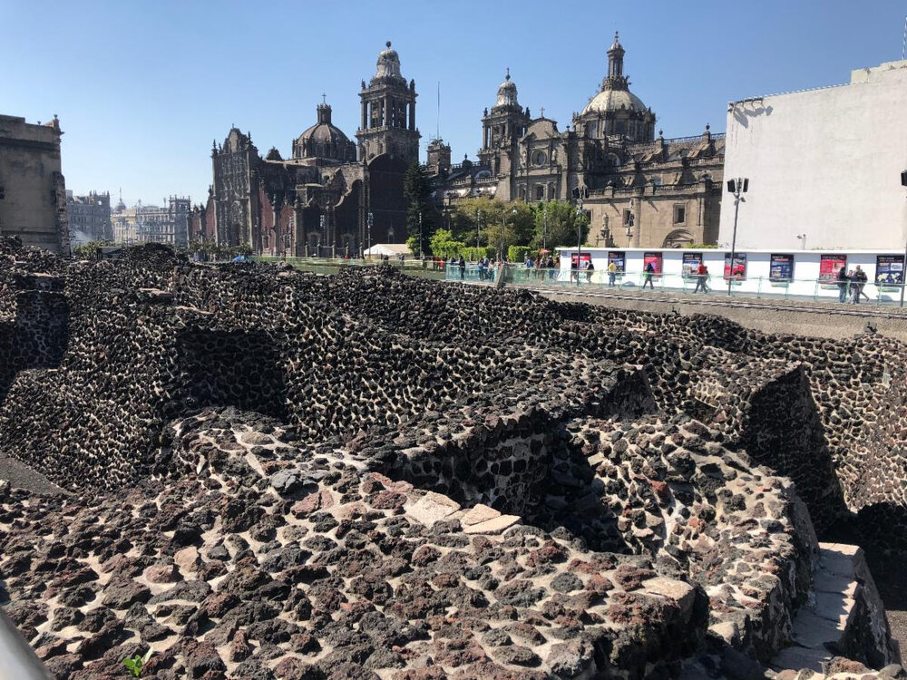 Templo Mayor and the Metropolitan Cathedral