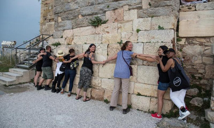 IDSVA students at the Acropolis, Athens. June 2018