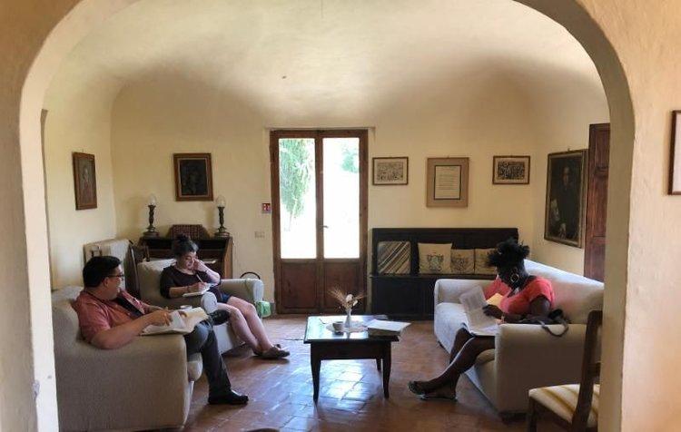 Students at Spannocchia