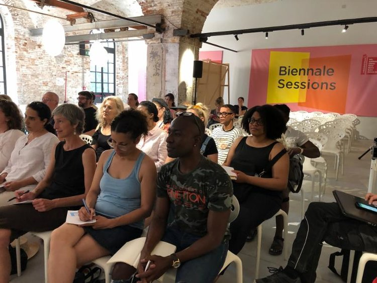 Students at Biennale Sessions