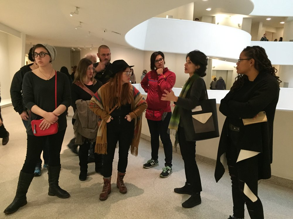 IDSVA at the Guggenhiem with Nancy Princenthal