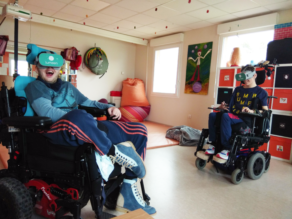 Expérimentation de la réalité virtuelle Lumeen dans le secteur du handicap au centre Jean-Marie Arnion