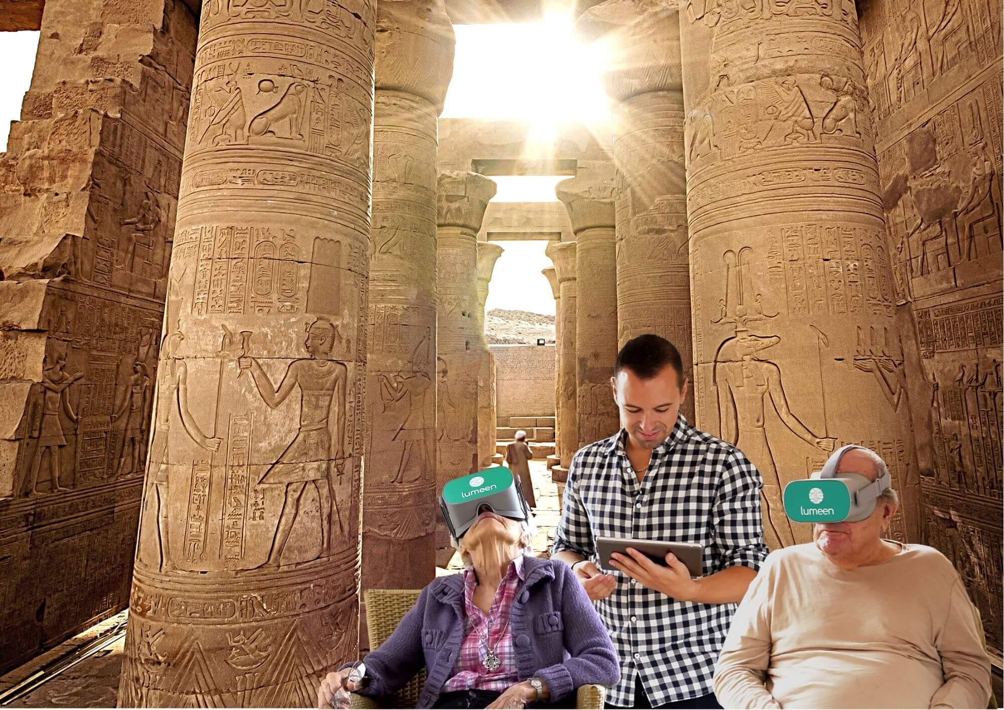 Représentation du module évasion, immersion en Égypte.