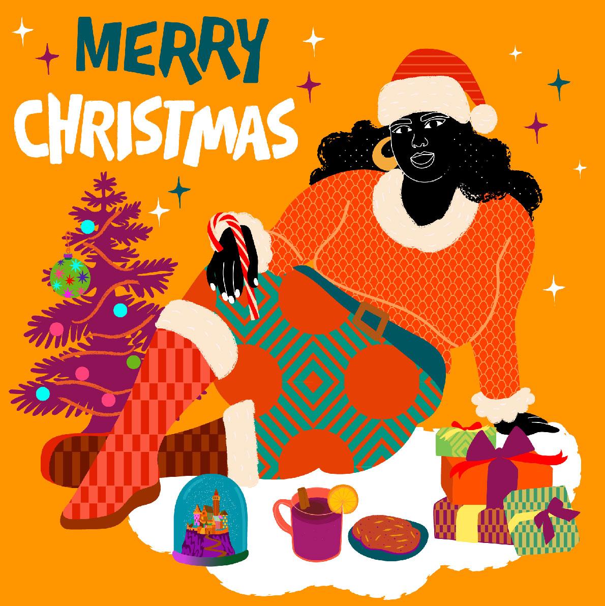 Over, christmas, noël, orange, xmas