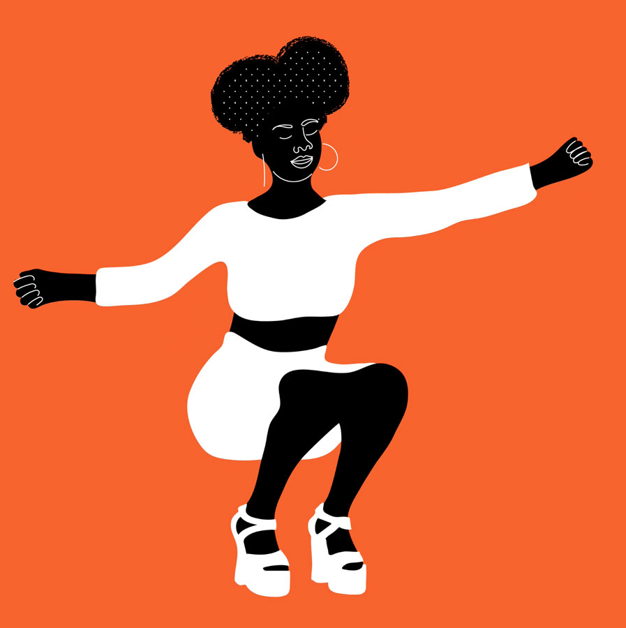 afro pop, music, dance, motion, move, sport, fitness, black, red, orange