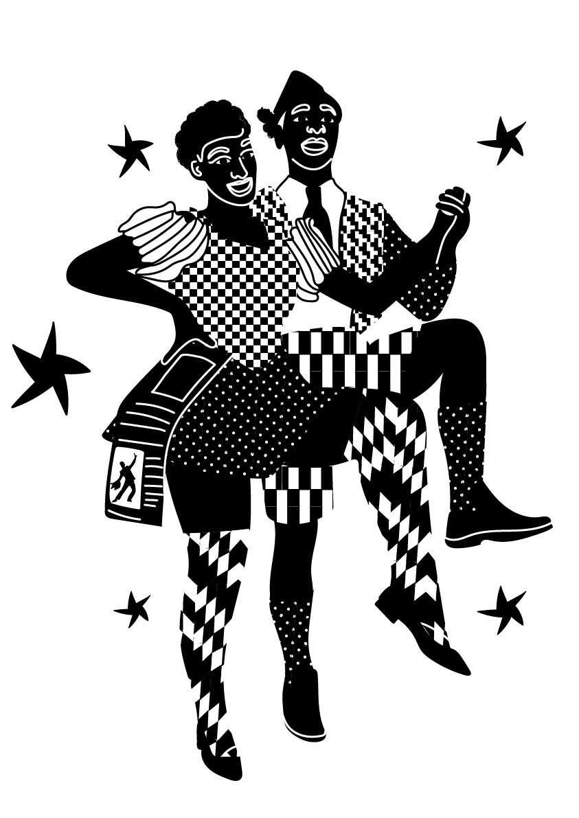 black and white, dance, traditions, polka, pattern