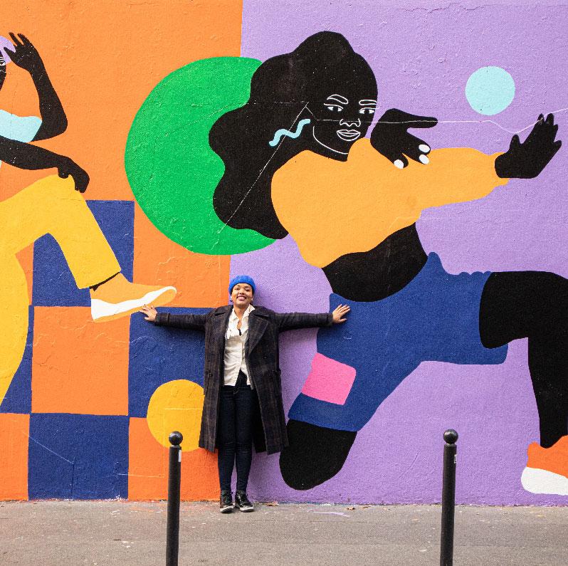mural, ménilmontant, wall art, street art, acrylic, painting
