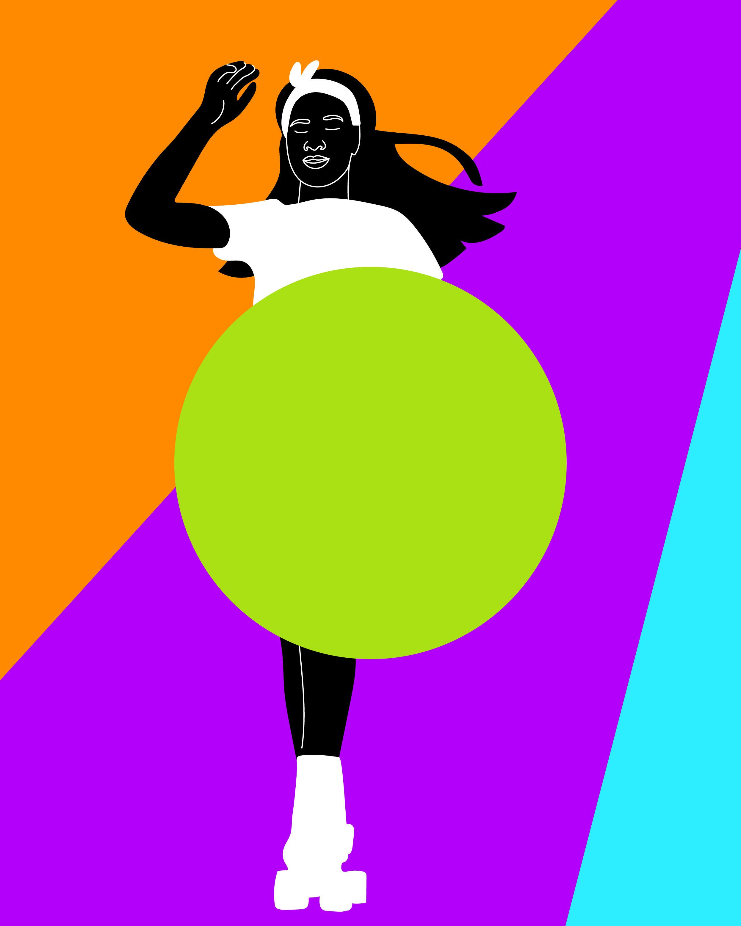 gifs, roller, roller skate, black, woman, sport, motion