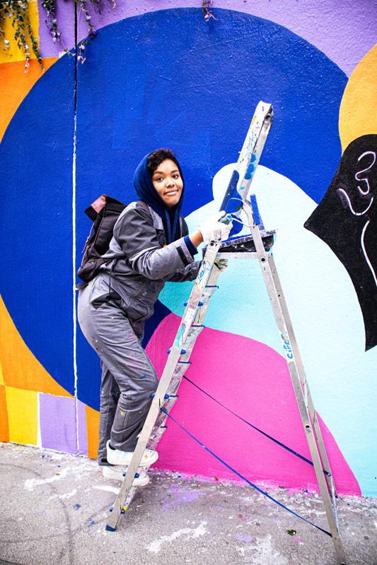 painting, mural, wall art, street art, paris, acrylic