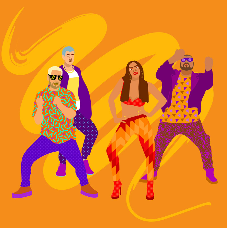 dj snake, music, animation, dance, move, motion, sport, band, afro pop