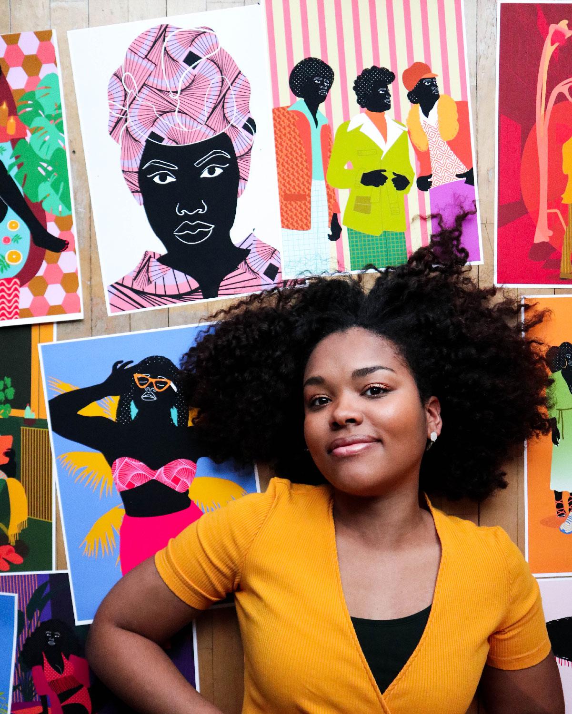 Aurélia, autoportrait, selfie, studio, posters