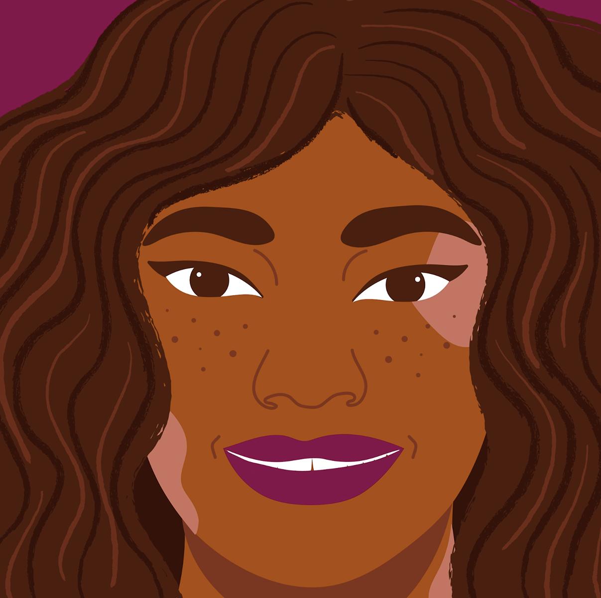 cosmetic, lipstick, make up, portrait, purple, brown, portrait, animation, motion
