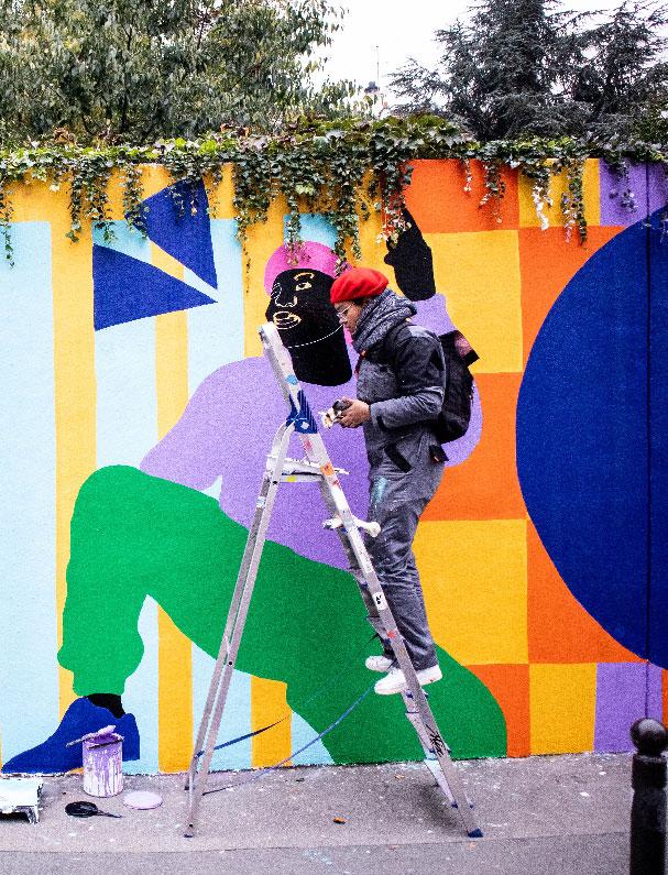 painting, mural, wall art, street art, paris, aurélia