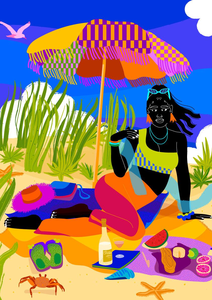 beach, blue, bird, sea life, sea, ocean, wind, picnic, nature, black