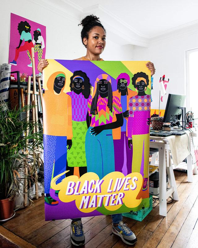 blm, poster, aurélia, black lives matter, patterns, studio