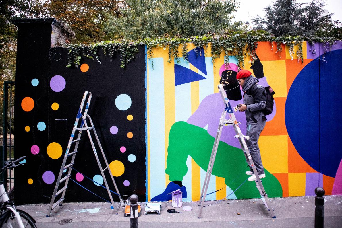 photo, aurélia, painting, acrylic, mural, canvas, wall art