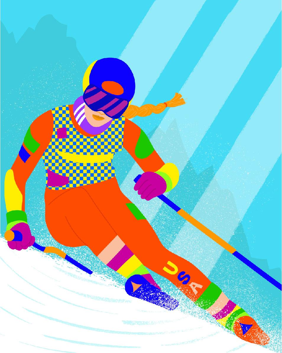 ski, sport, winter sport, motion, move, adidas