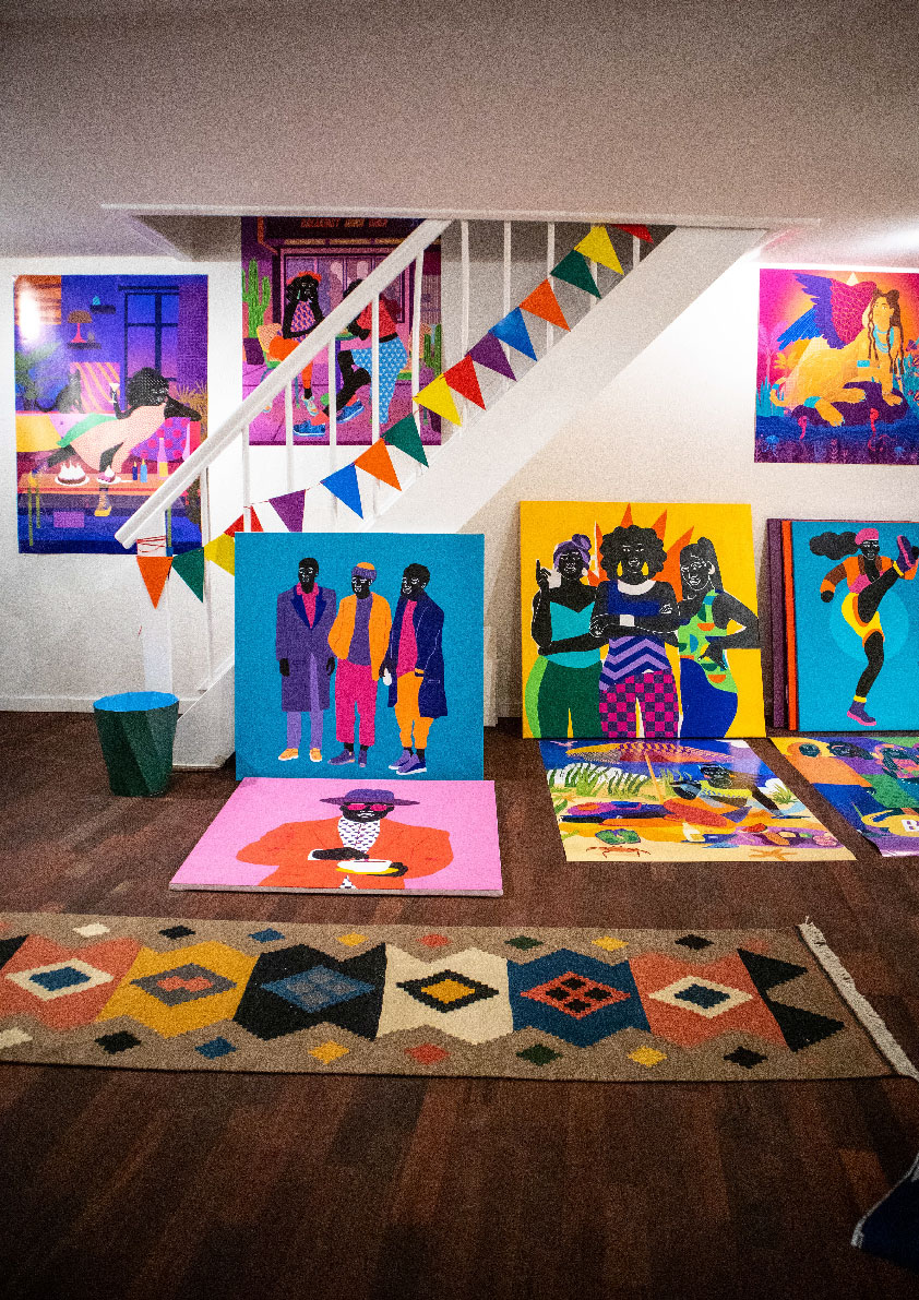 studio, interior, canvas, painting, posters