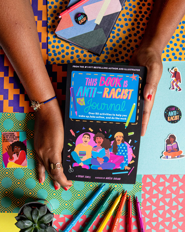 journal, this book is anti-racist, book, quarto kids, do the work