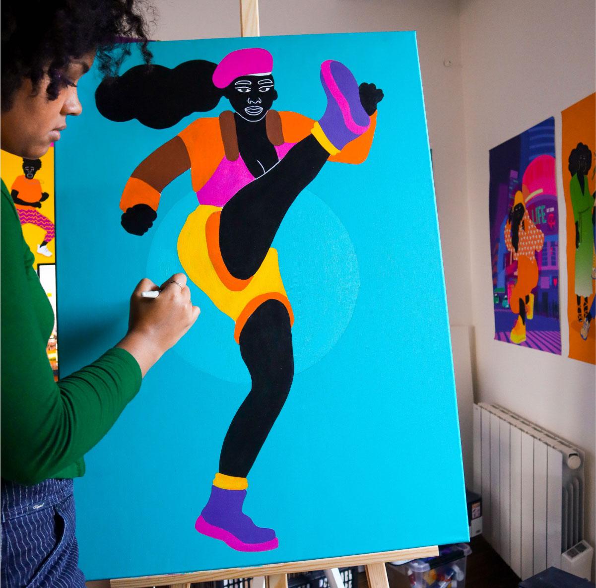 black, posters, photo, aurélia, painting, acrylic, mural, canvas