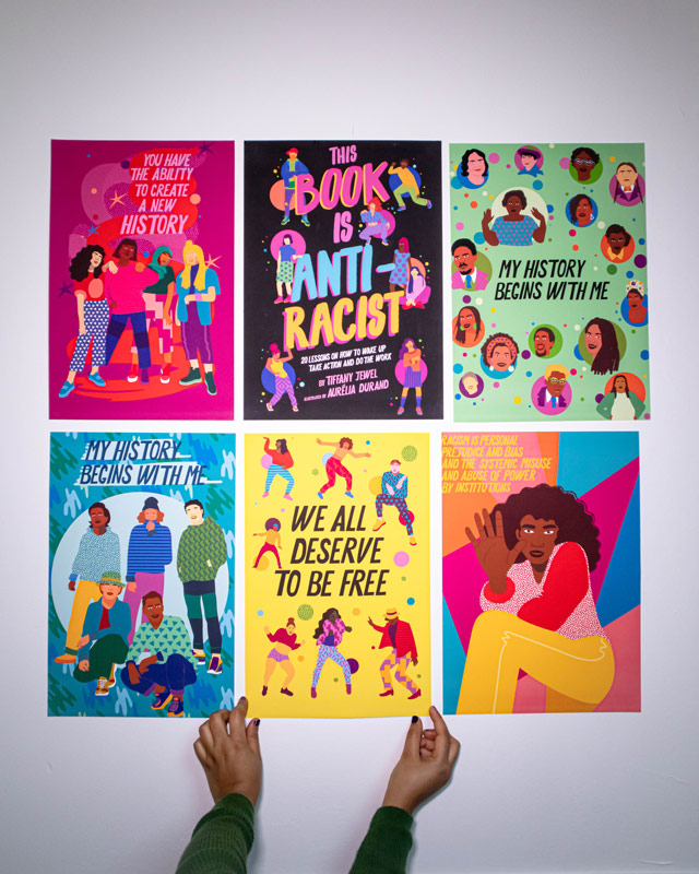 this book is anti racist, quarto kids, poster,