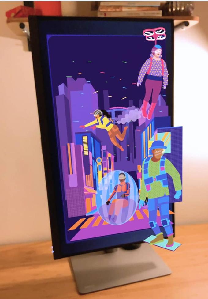 AR, augmented reality, futuristic, video, futur, city, decor, transport