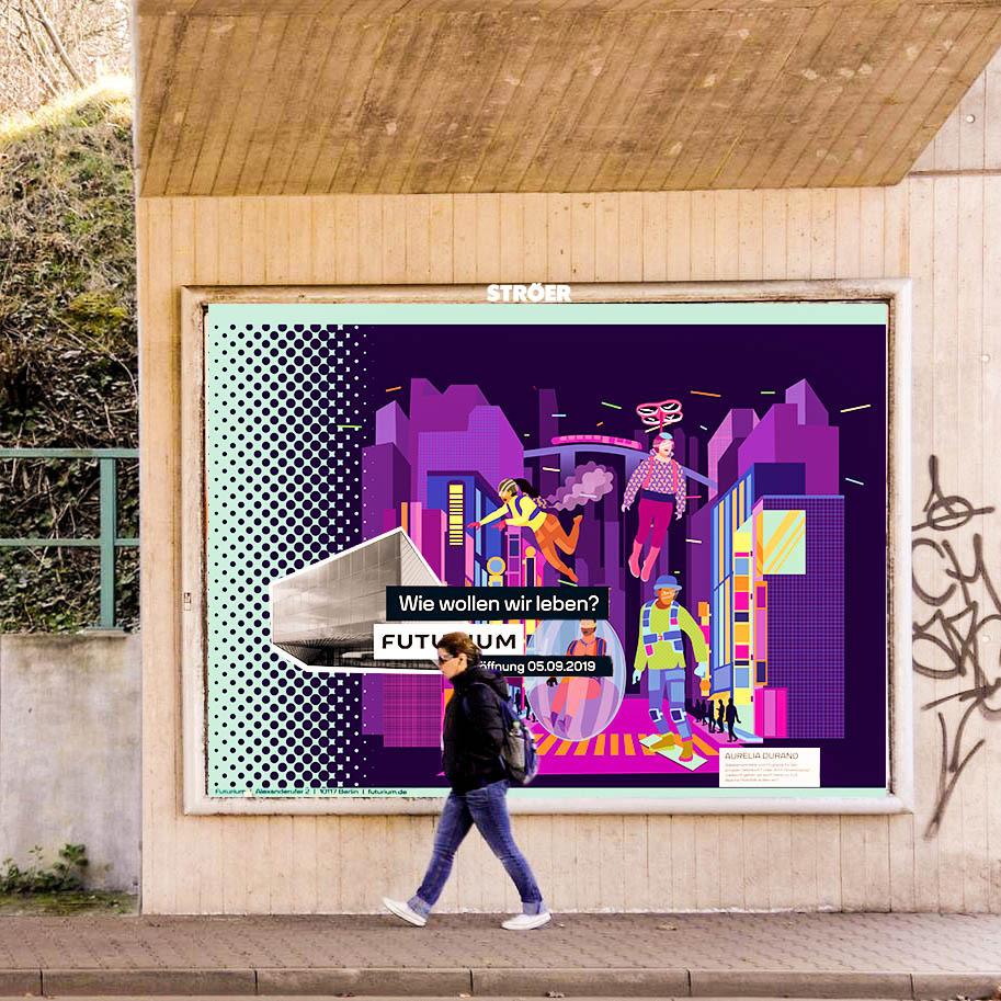 bilboard, germany, future, futuristic, transport, city, poster