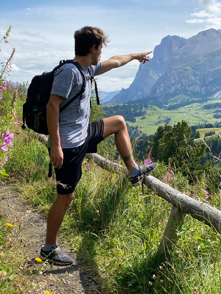 Me hiking in the mountains