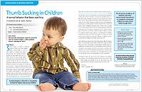 Child sucking his thumb, address the behavior