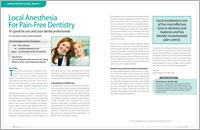 Local anesthesia for dental procedures