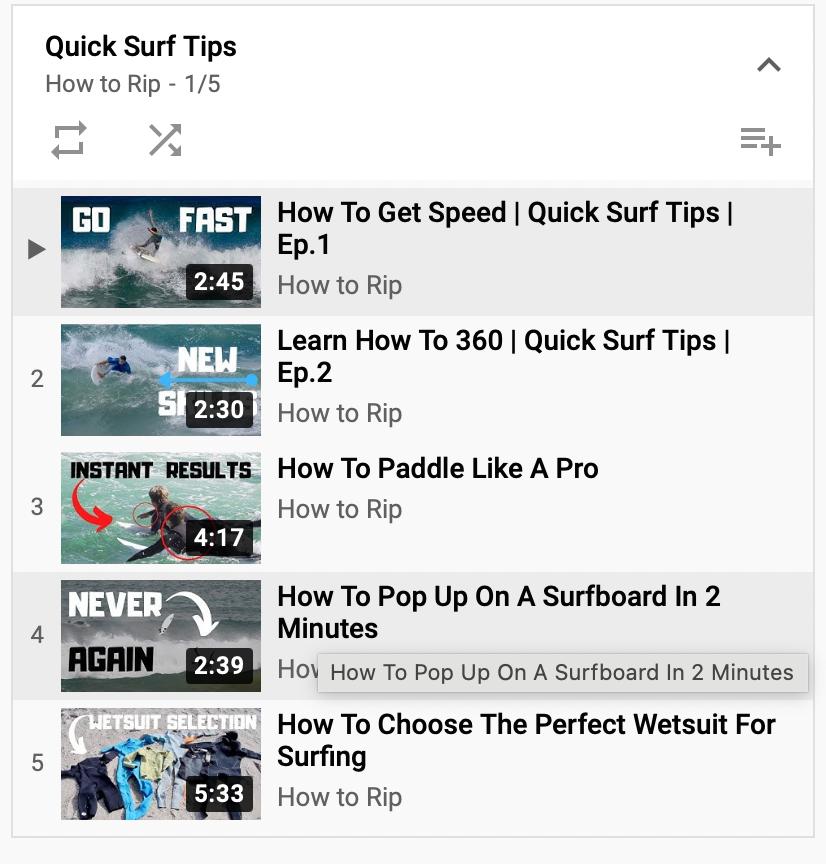 YouTube Playlist von How to Rip