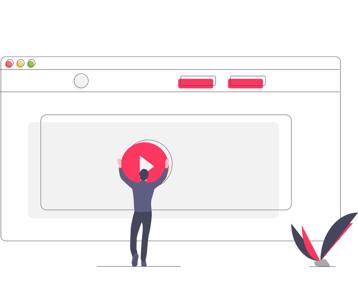 Media player and Play Button Illustration