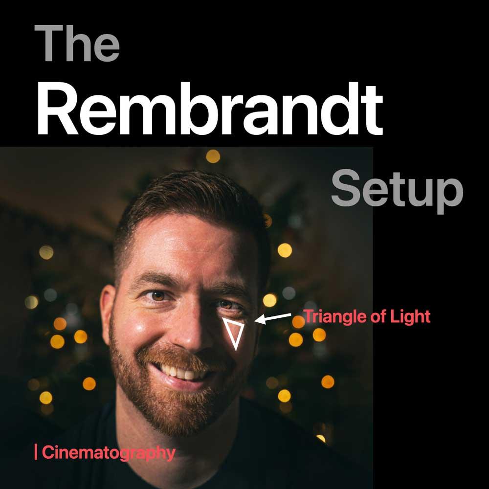 Rembrandt Style Licht Setup