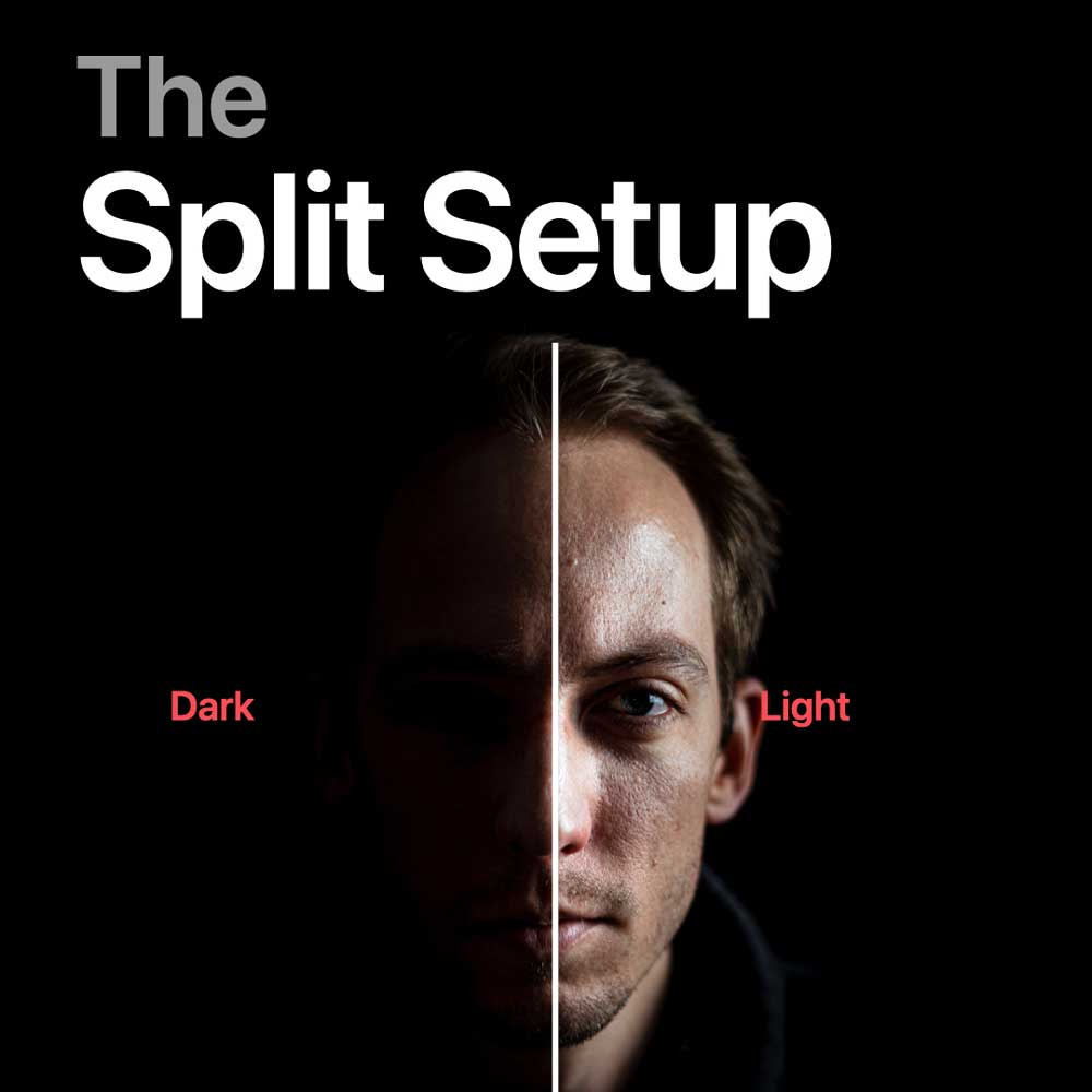 Split Licht setup