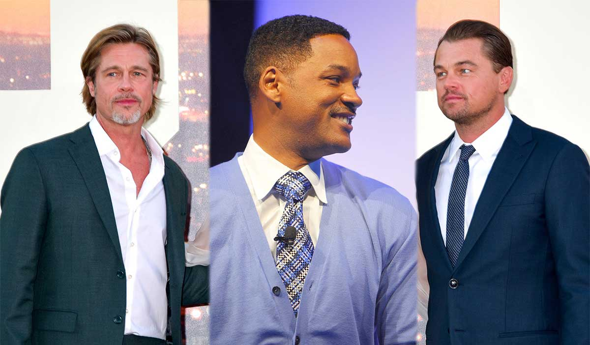 Will Smith, Leonardo DiCaprio und Brad Pitt