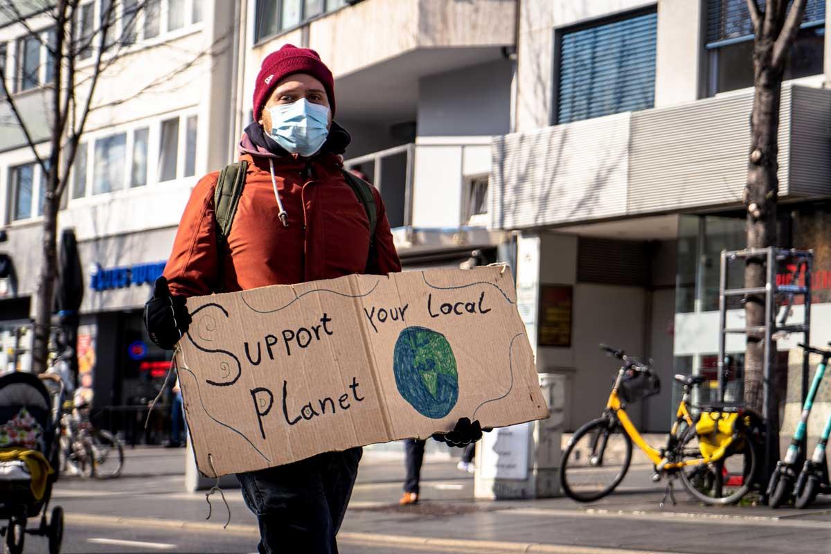 Protest für den Klimaschutz