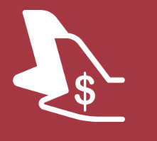Aircraft tail with dollar sign inside