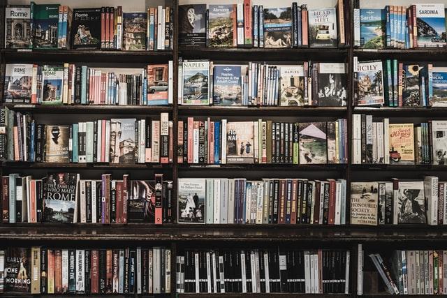 Vue d'une bibliothèque contenant plusieurs ouvrages
