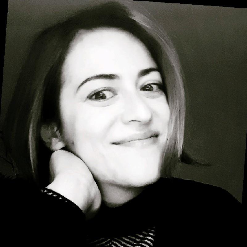 Portrait en noir et blanc de Marzia De Donno