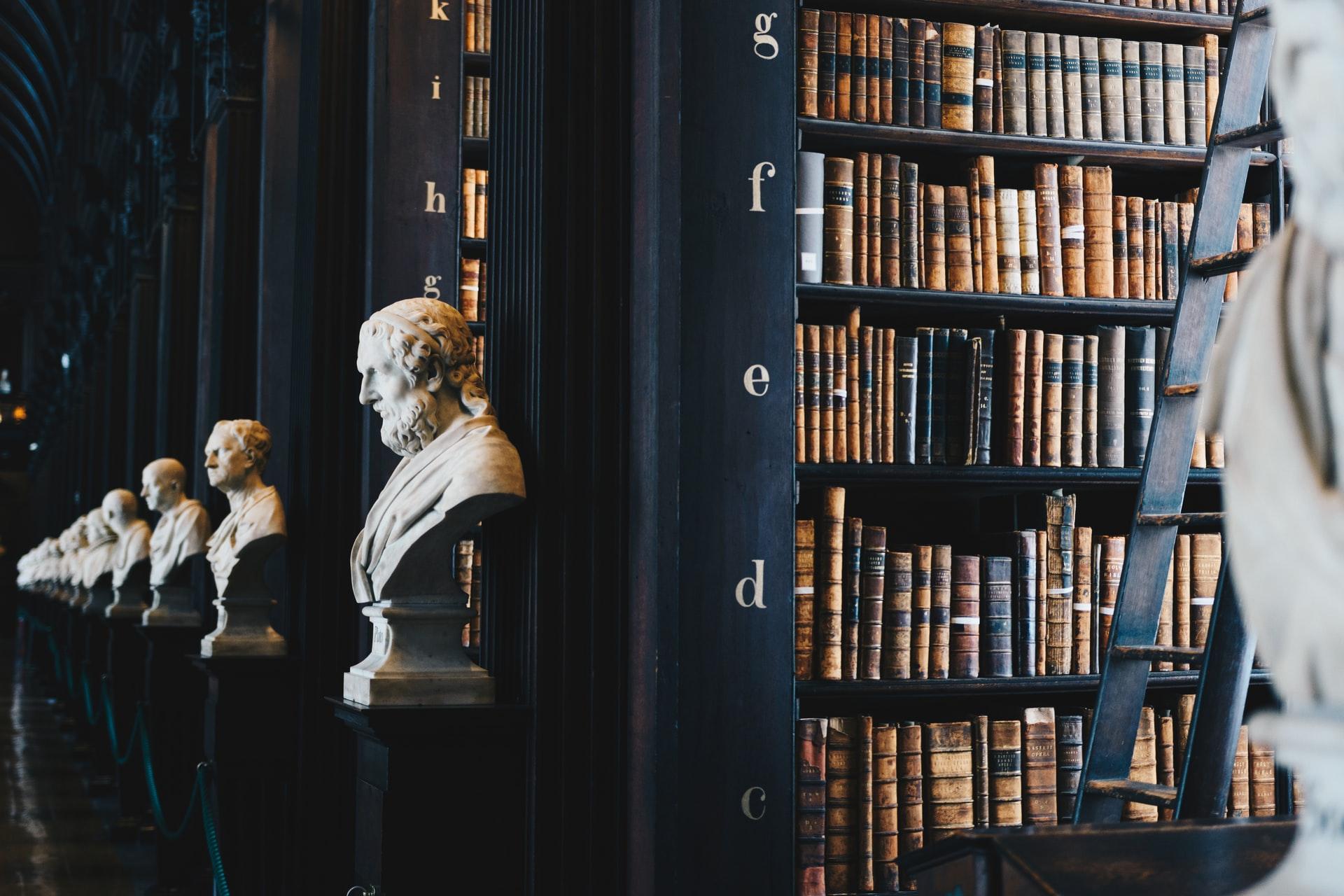 Photographi d'une librairie
