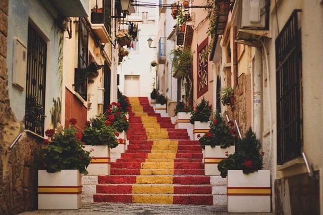 Image d'une ruelle en Espagne