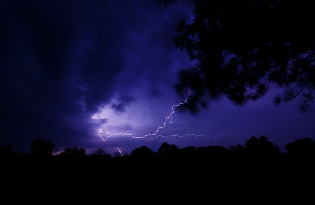 Photographie d'un éclair