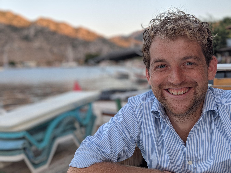 A portrait photograph of Joe Rinaldi Johnson in Turkey