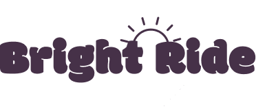"Logo reading ""BrightRide"" with a half sun connecting the words"