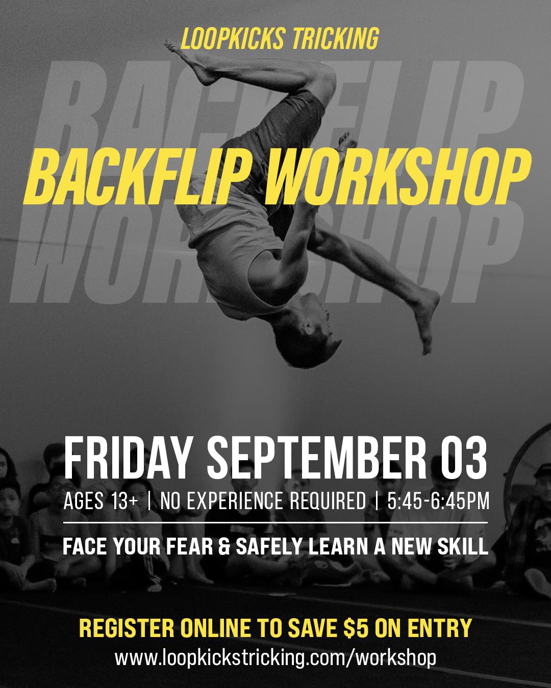 Backflip Workshop Flyer