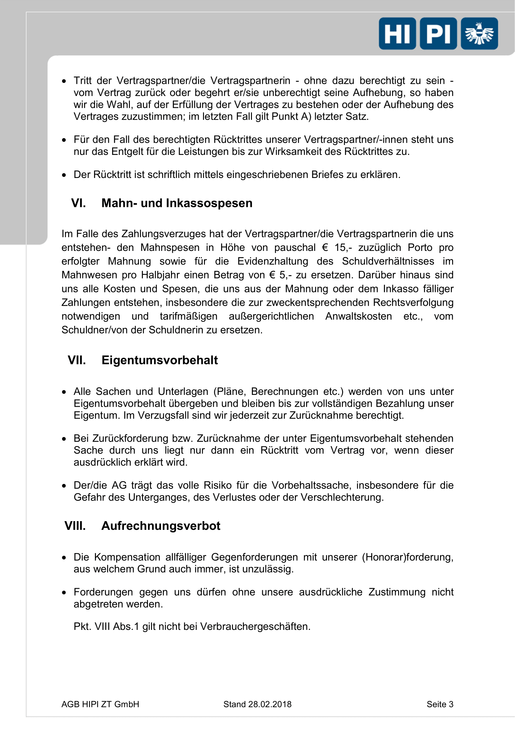 HIPI ZT GmbH AGB Seite 3