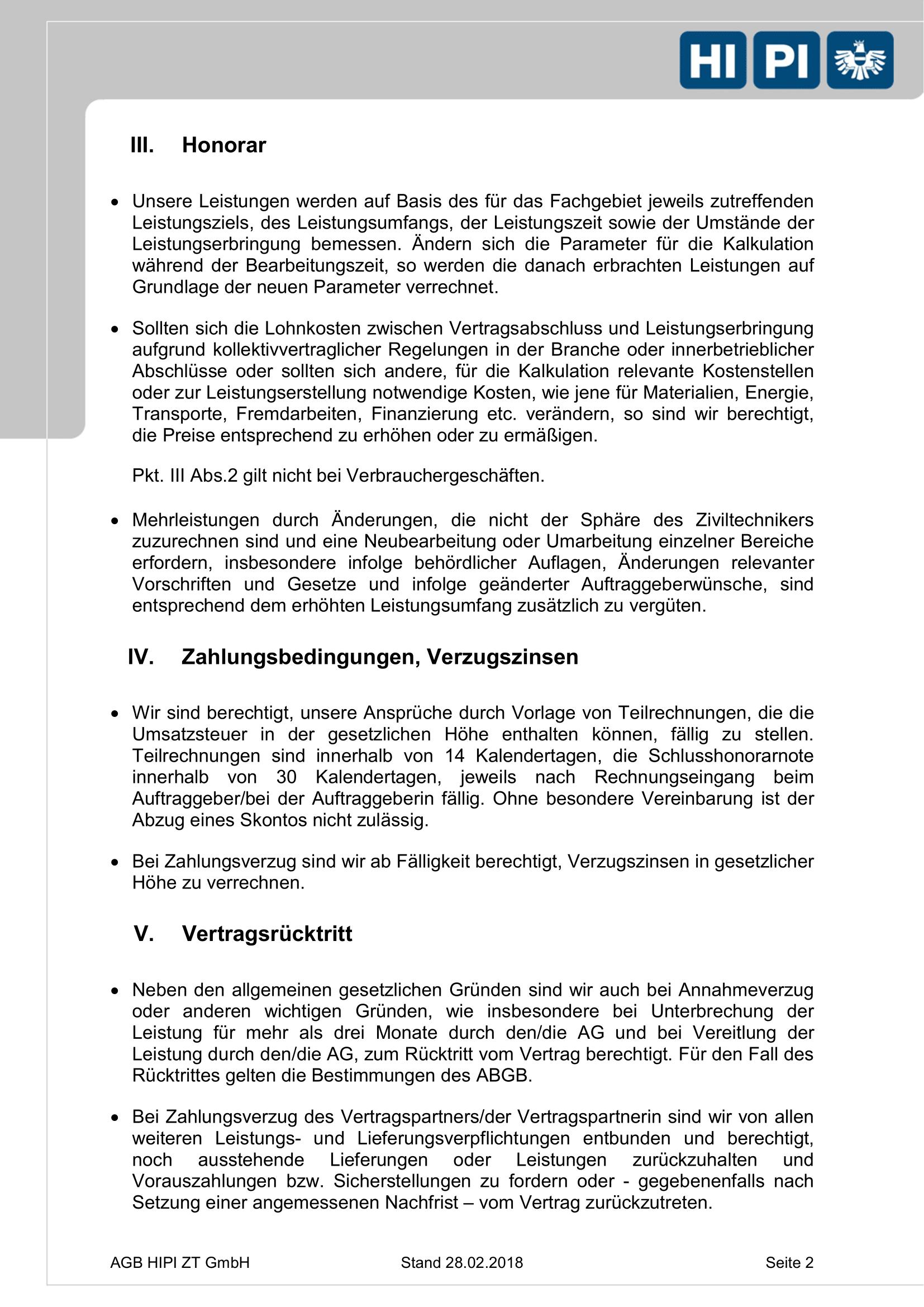 HIPI ZT GmbH AGB Seite 2