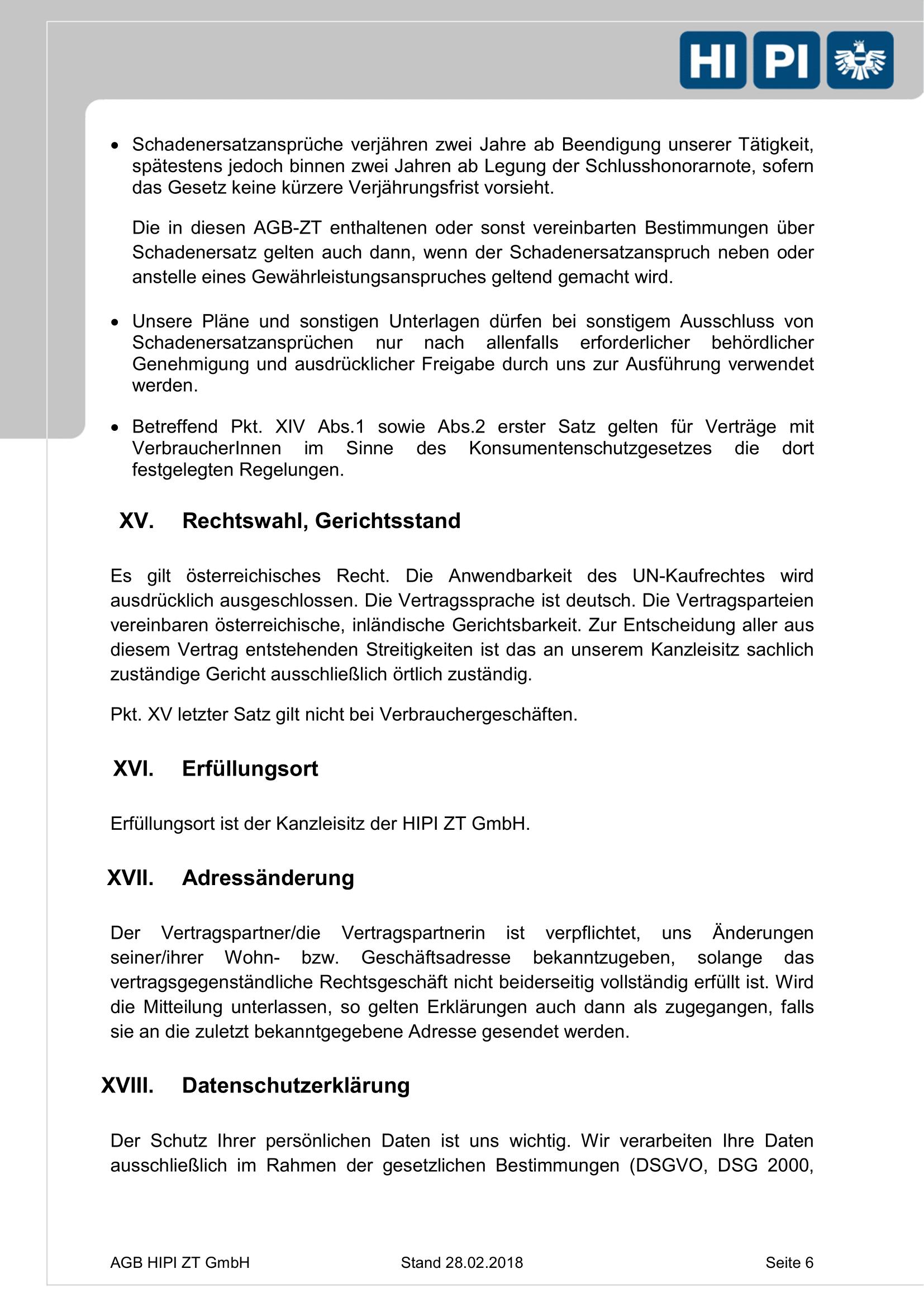 HIPI ZT GmbH AGB Seite 6