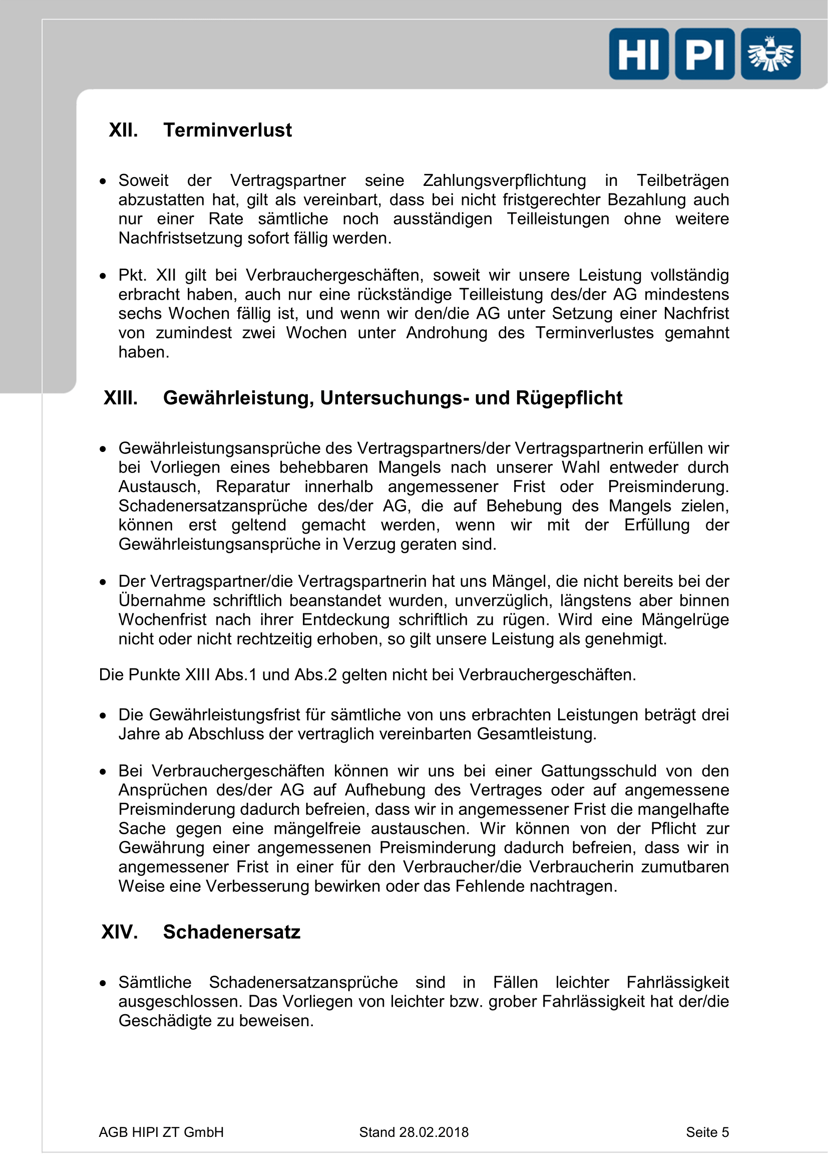 HIPI ZT GmbH AGB Seite 5